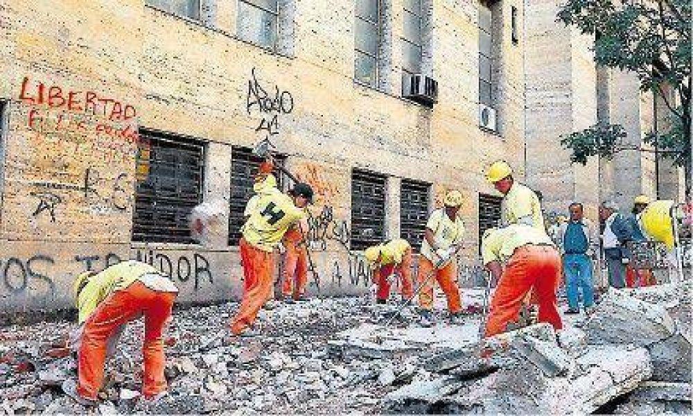Avanzan las obras de remodelación en la zona universitaria