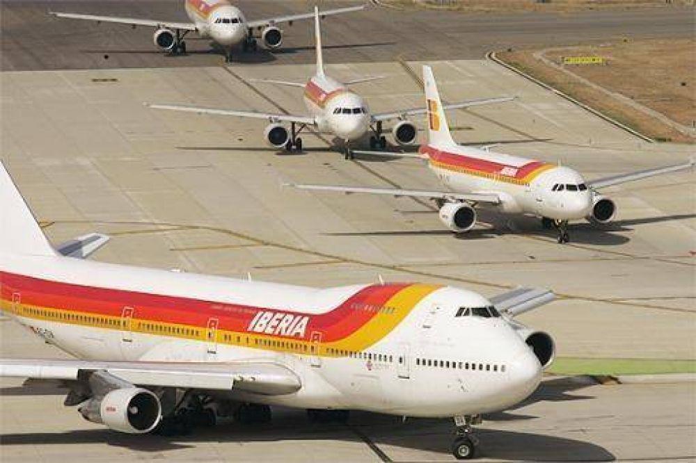 Iberia cancelará 263 vuelos programados para hoy en España