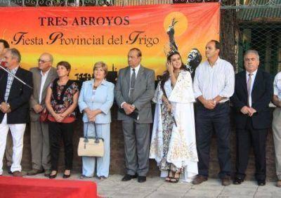 Sánchez dejó inaugurada la Fiesta del Trigo