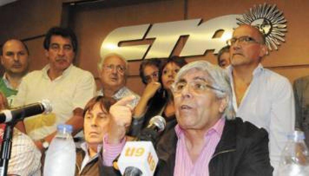 Moyano acusó al Gobierno de reprimir a su gremio y prepara nuevo paro nacional