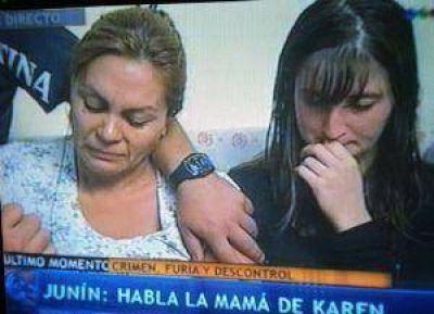 """Mamá de Karen: """"Lo único que pido es que encuentren al que mató a mi hija"""""""