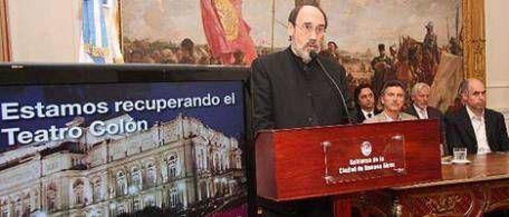 """Pedro García Caffi: """"El Teatro Colón no es una obra social para apilar gente en los pasillos"""""""
