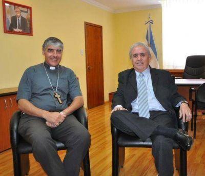 Cantín recibió al obispo Miguel Ángel D'Annibale