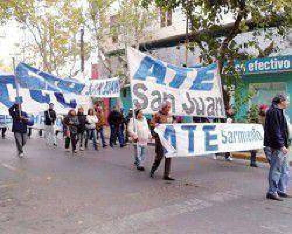 Trabajadores de ATE se movilizaron