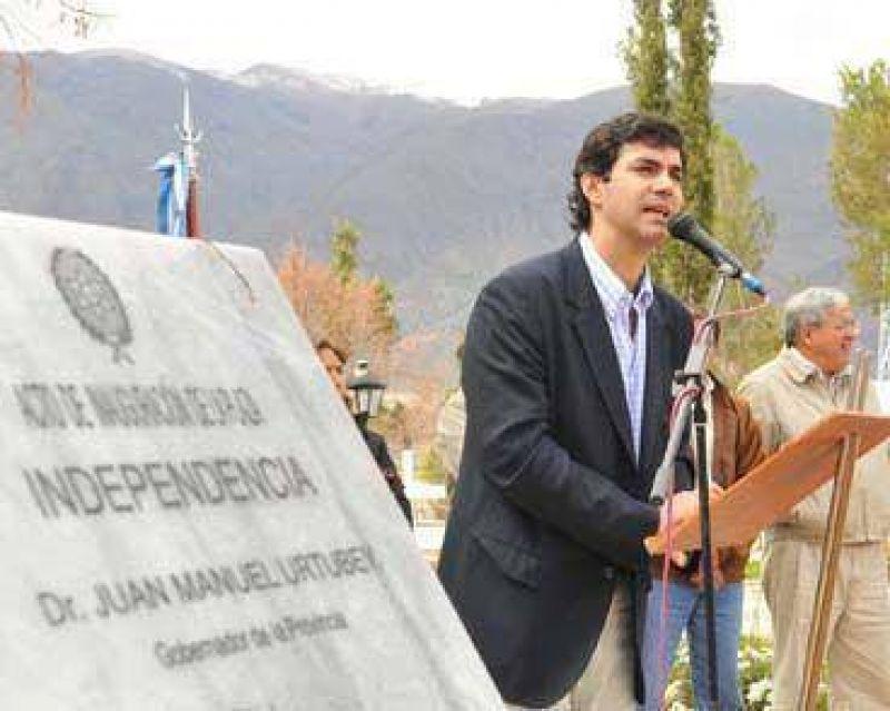 Urtubey inauguró obras públicas en La Poma.