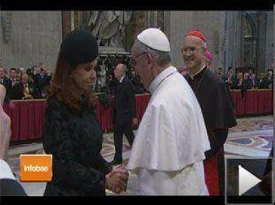 Cristina Kirchner abrió los saludos formales