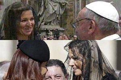 Afectuosos saludos de Máxima con Francisco y Cristina
