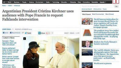 """Los diarios ingleses llamaron """"desvergonzada"""" a Cristina"""
