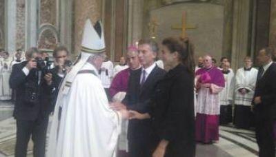 Macri también tuvo su foto y Francisco le preguntó por su hija Antonia