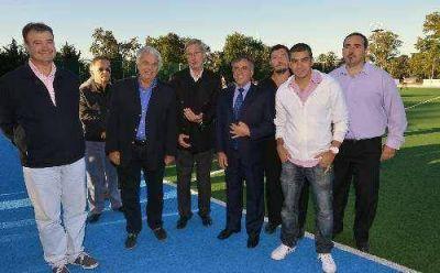 En compañía de De La Sota, Cariglino inauguró obras en SAG