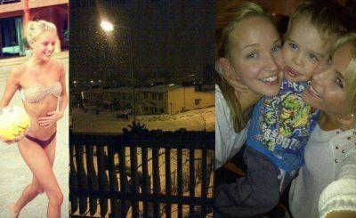 """Las fotos de las esperadas vacaciones en familia de Alexandra """"La Sueca"""" Larsson"""