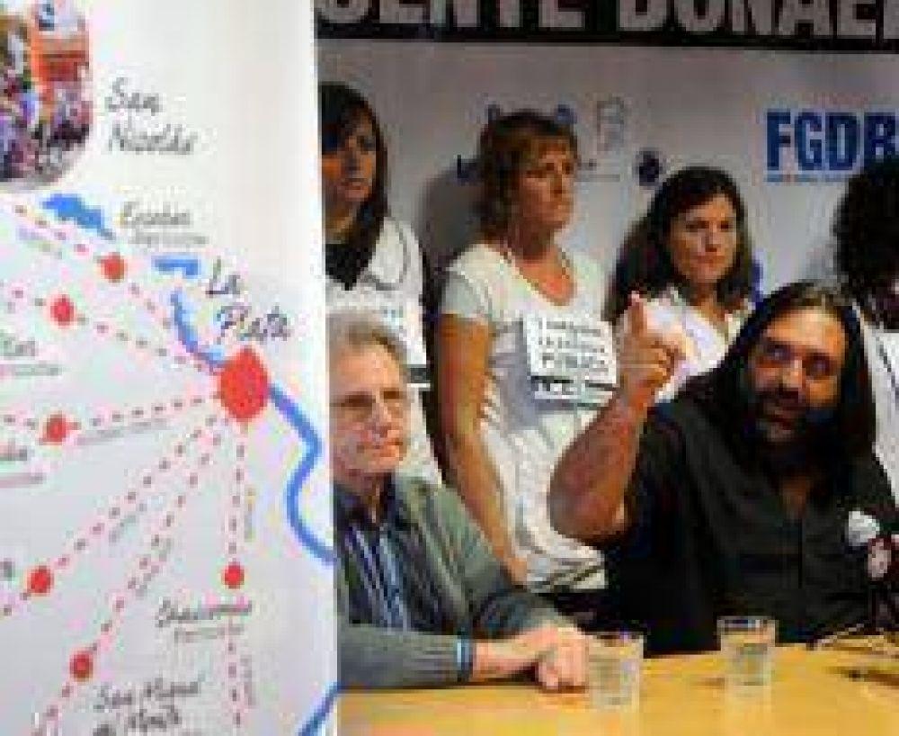 La caravana docente inundó La Plata