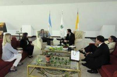 El Gobernador recibió a representantes de Naciones Unidades