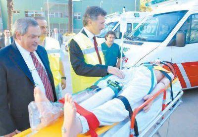En su nueva sede, el Same agrega 14 ambulancias con sistema de GPS