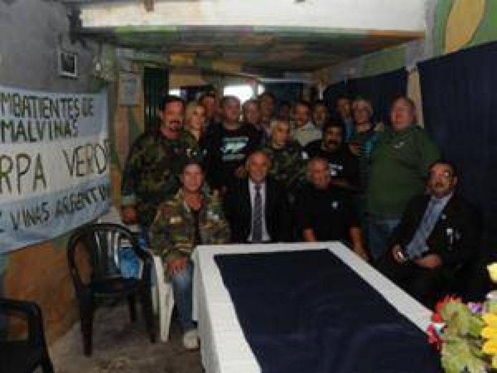 Inauguración de la Carpa Verde de Malvinas Argentinas a 31 años de la guerra de Malvinas