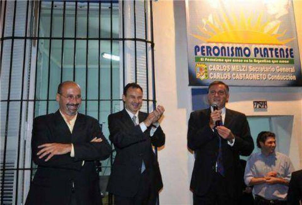 Bruera y Castagneto mostraron unidad al inaugurar local partidario en La Plata