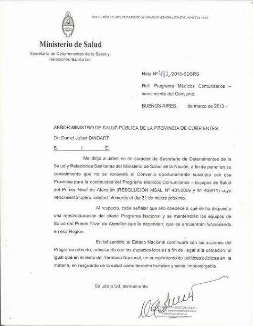 Suspenden el programa Médicos Comunitarios