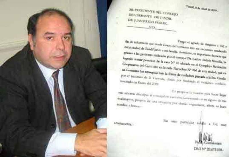 Confalonieri mand� una nota agradeciendo al concejal Carlos Mansilla