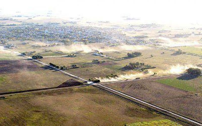 Desolador: la sequía en Laprida desde el aire