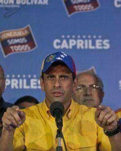"""Capriles no admitió la derrota y pidió recontar sufragios """"uno por uno"""""""