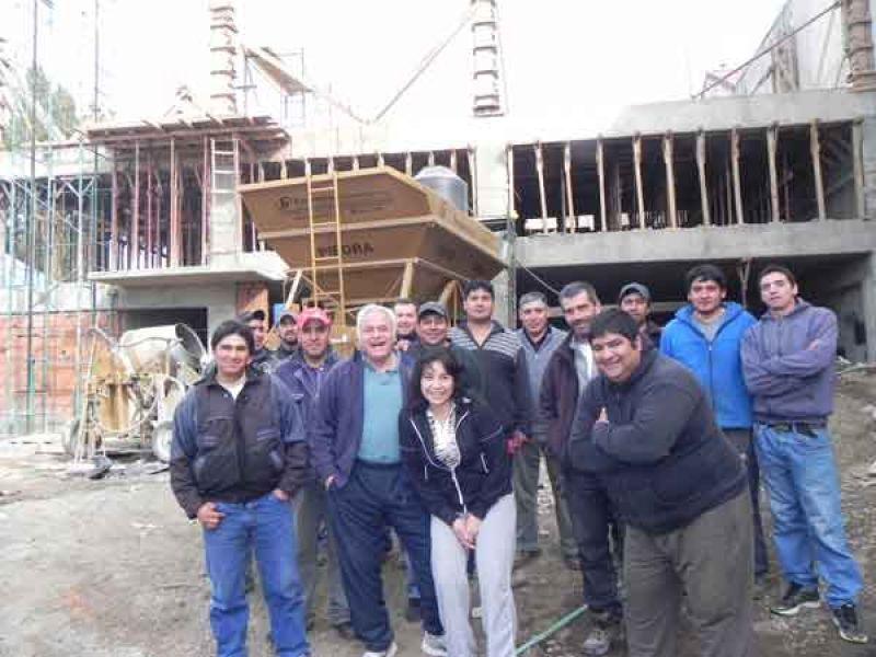 A buen ritmo avanza la obra de la nueva sede de la UTHGRA Bariloche