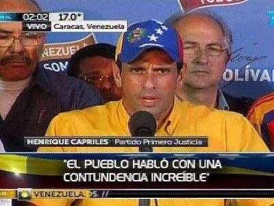 Capriles no reconoce el ajustado triunfo de Maduro en Venezuela