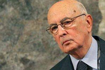 Para destrabar la parálisis política, Napolitano fue reelecto como presidente de Italia