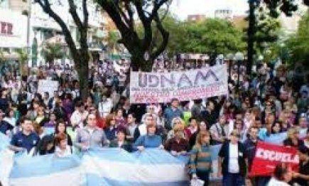 Nuevo paro y movilización de los docentes del frente Gremial