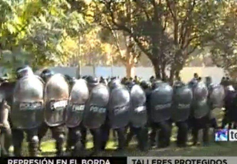 ATE Neuqu�n repudia la represi�n en el Borda