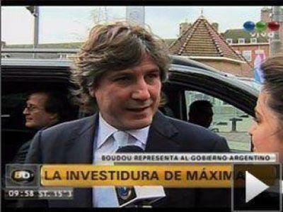 """Boudou ya está en Holanda para llevar """"el saludo de la Presidenta a Máxima"""""""