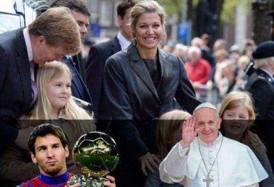 La reina, el Papa, Messi, Maravilla y una argentinidad al palo