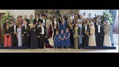 Boudou y Rojkés, en la foto oficial con los nuevos reyes de Holanda