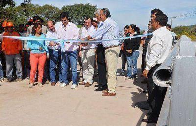 En Chicoana se habilit� el puente sobre el arroyo Tili�n