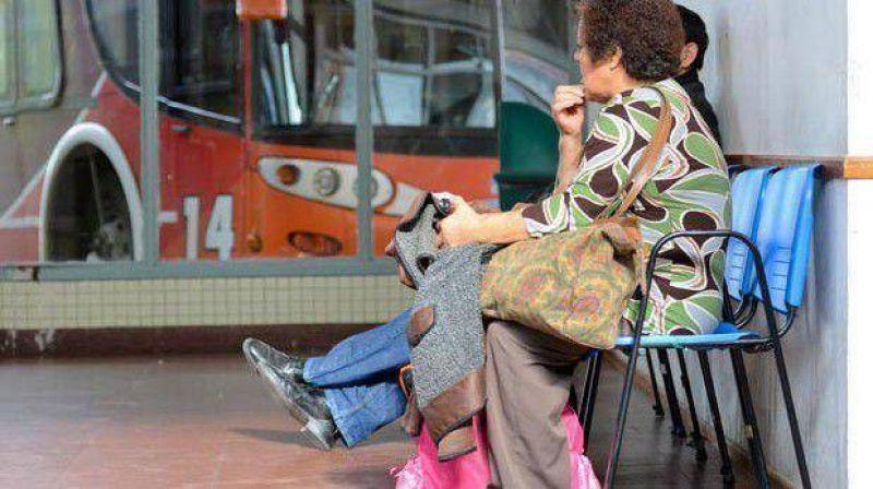 En Comodoro se siente el paro de la UTA