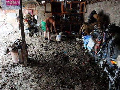 Inundados del Arenales piden 40.000 pesos de resarcimiento