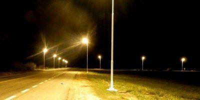 Se ilumina el cruce de ruta 41 y acceso a ruta 47