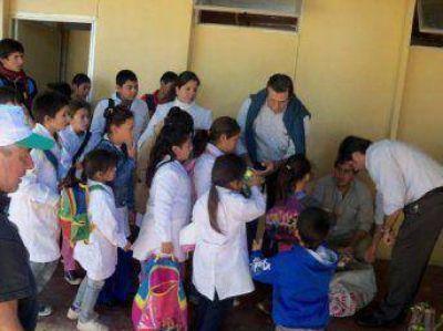 Salud Pública llegó al paraje La Palmira con numerosos servicios