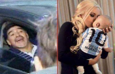 Escandalosa llegada de Diego Maradona al país: conoció a su hijo tras 90 días y enfrentó a fotógrafos
