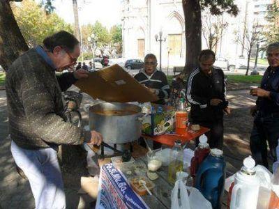 Municipales se movilizaron a la Plaza San Martín