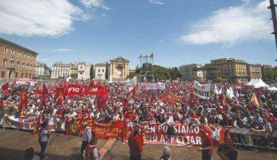 El nuevo premier italiano tuvo la primera movilización en su contra