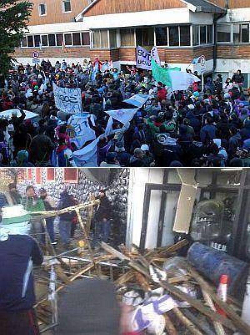 T. del Fuego: gremio docente y camioneros enfrentaron a policías