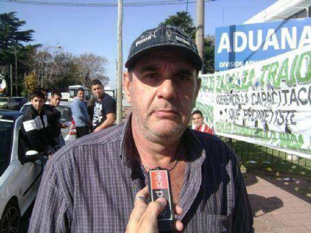 """Protesta de trabajadores del sindicato SUPA: """"Estamos exigiendo proteger la fuente laboral regional"""", dijo Azcoitia"""