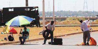 """Protesta fronteriza de """"paseros"""" paraguayos"""
