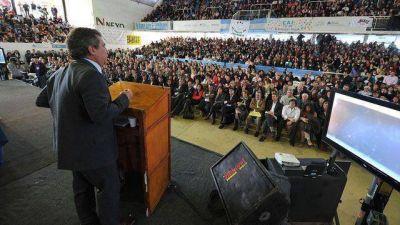 """El acto de la """"década ganada"""" se desplegó en Paraná"""