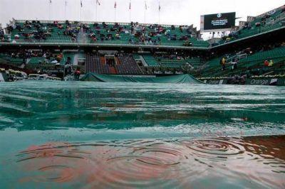 Y dónde va la gente cuando llueve.en Roland Garros