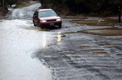 Temporal de agua y lluvia dejó la huella de su paso