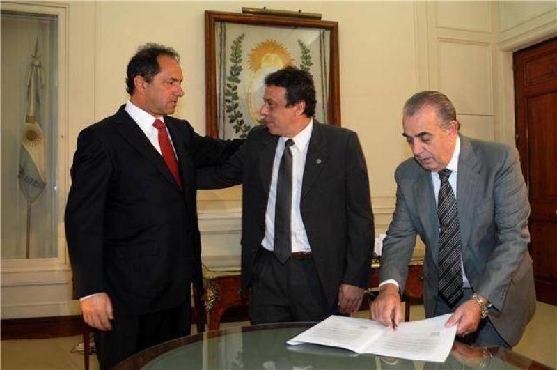 Caffaro firmó la adhesión al Fondo Solidario Provincial