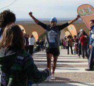 Darío Burgos ganó la carrera de la nieve en el departamento de Tunuyán