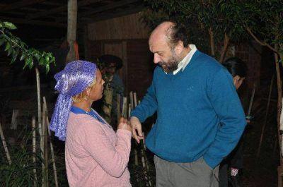 El candidato peronista Gustavo Galarza visita Iguazú, Montecarlo y Eldorado