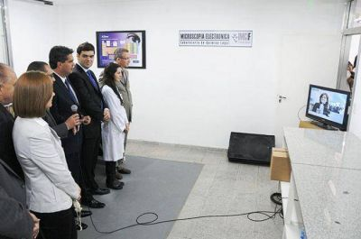 Cristina inauguró un laboratorio de análisis forense en Resistencia